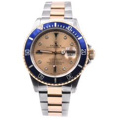 Rolex Two-Tone Submariner with Serti Dial Watch Ref. 16613