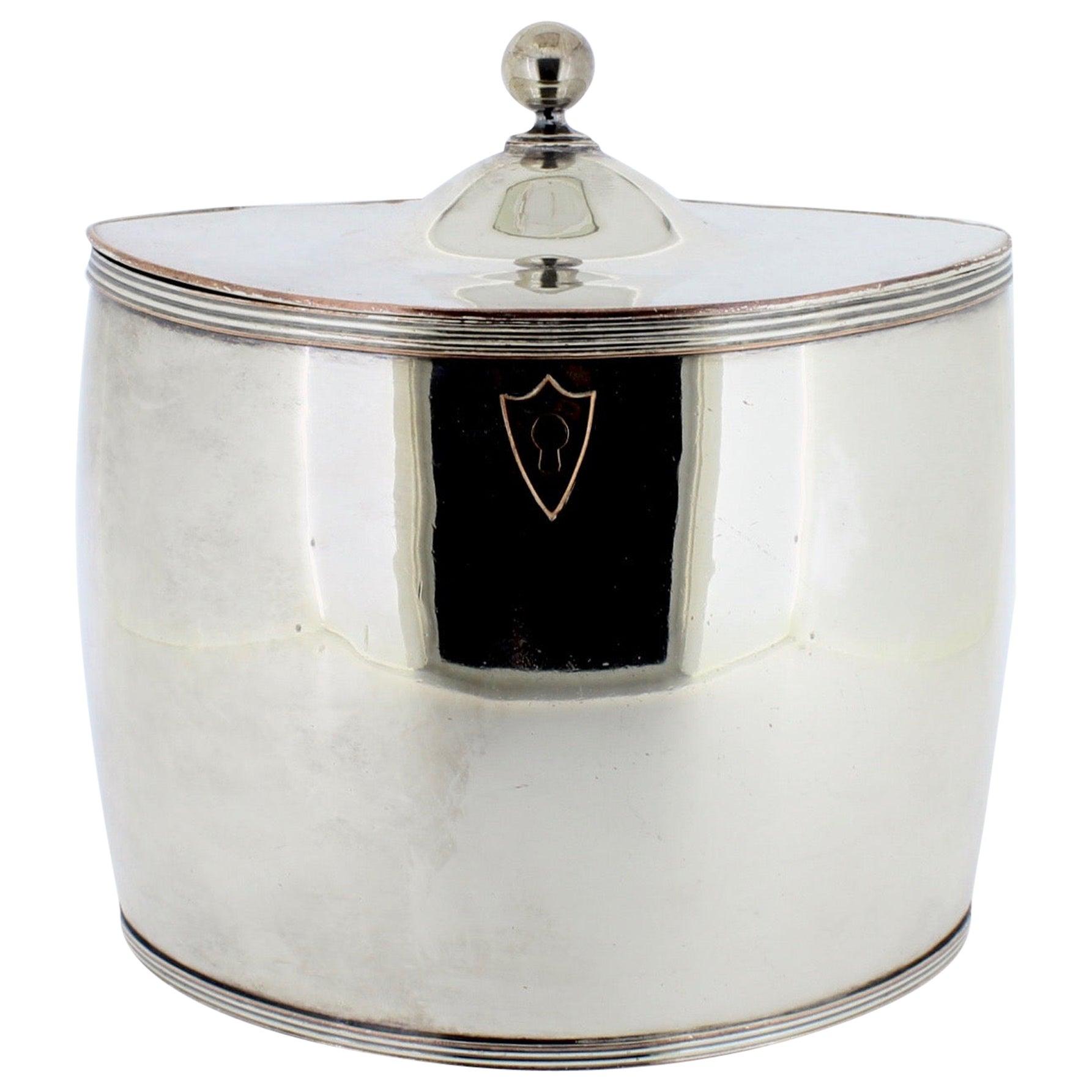 Antique Georgian English Sheffield Silver Plate Tea Caddy