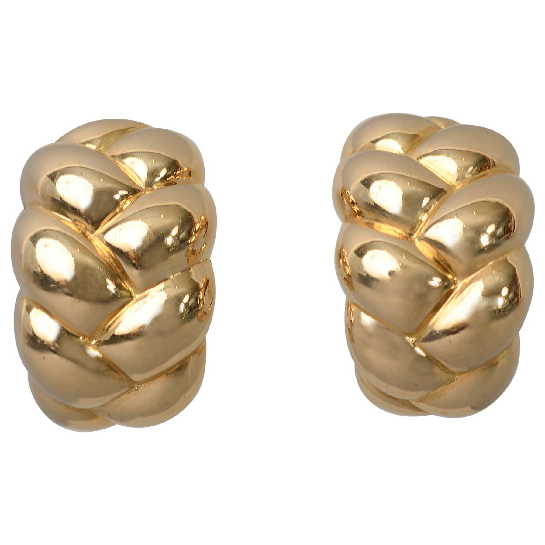 Van Cleef & Arpels Woven Gold Earrings