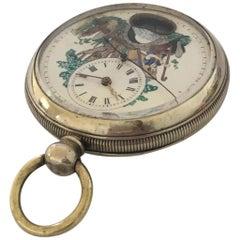 Rare antique Swinging Pendulum Silver Pocket Watch