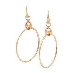Gucci 18 Karat Rose Gold Marina Chain Hoop Earrings