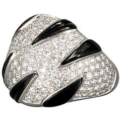 Cartier Onyx Diamond Gold Ring