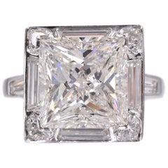 GIA Diamond Solitaire 4.01 Princess Shape