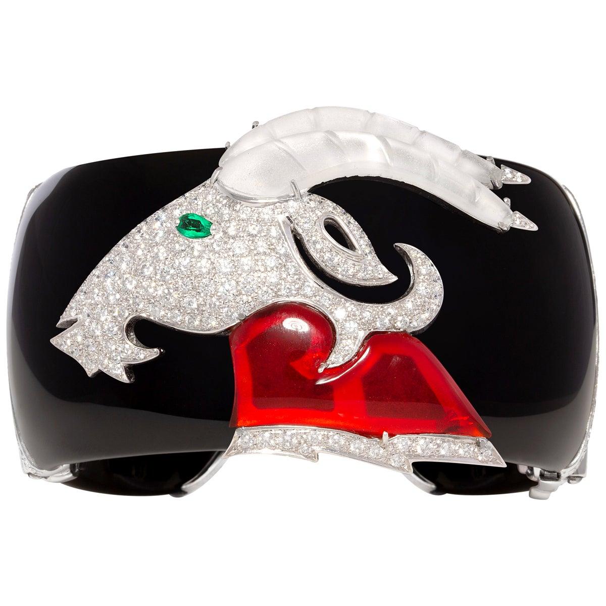 Ella Gafter Capricorn Zodiac Diamond Cuff Bracelet