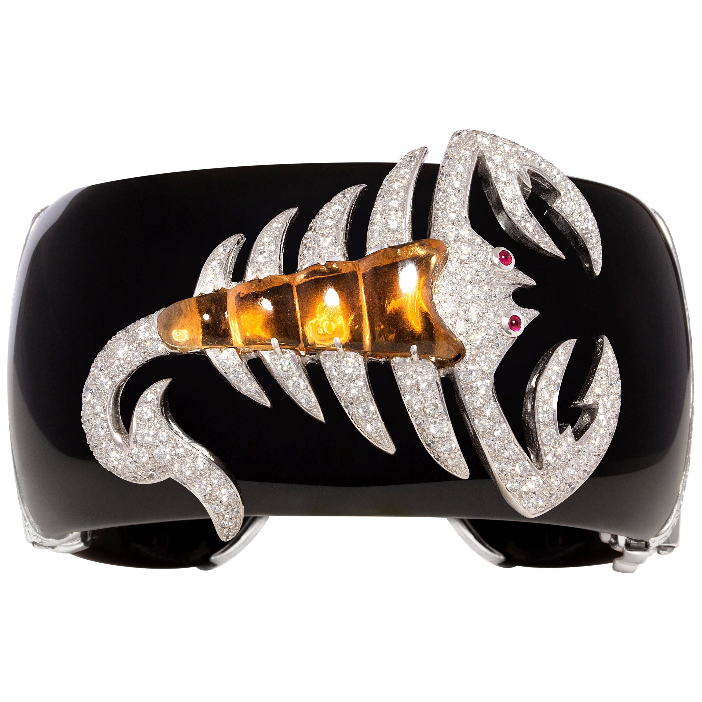 Ella Gafter Scorpio Zodiac Diamond Cuff Bracelet
