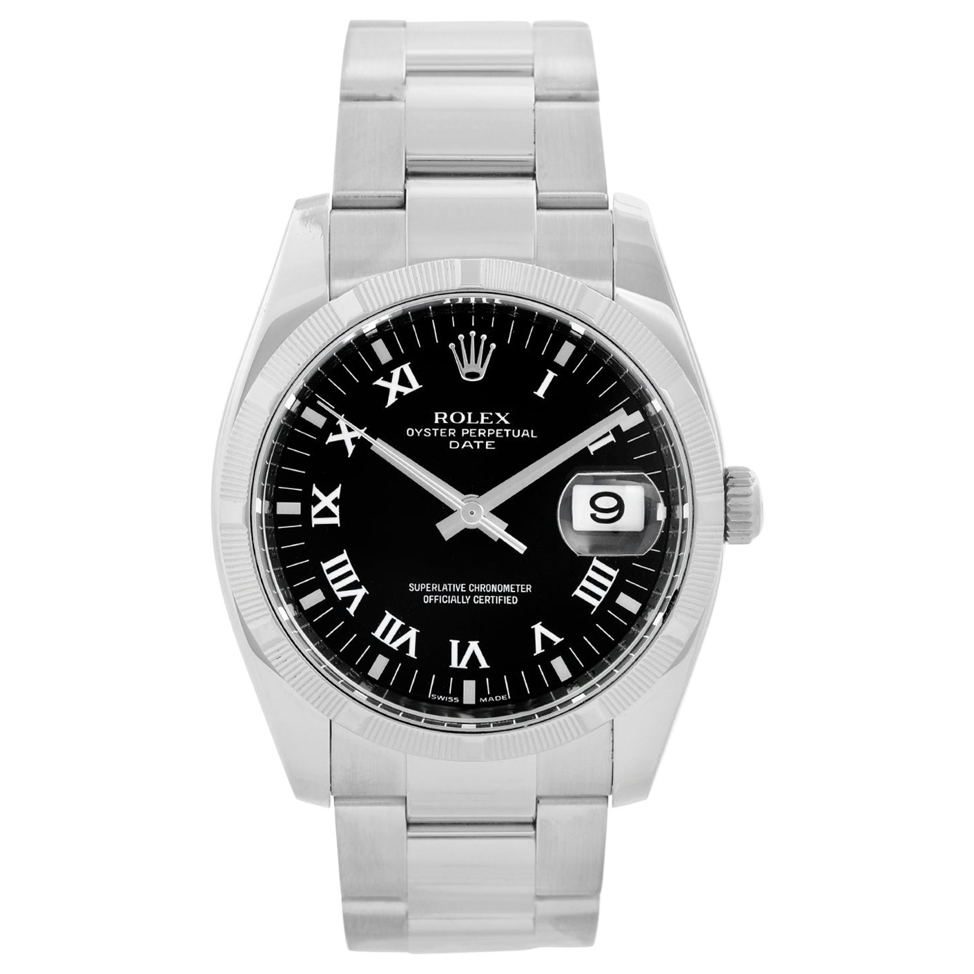 Rolex Oyster Perpetual Date Men's Stainless Steel Watch 115210