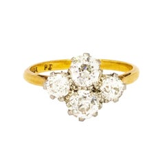 Edwardian 2 Carat Four-Stone Diamond Ring