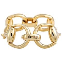 Gucci Horsebit 18K Yellow Gold Bracelet Size 16