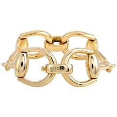 Gucci Horsebit 18K Yellow Gold Bracelet Size 18