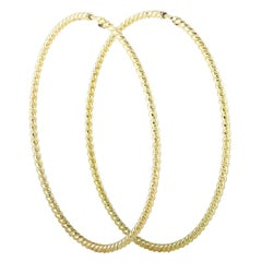 Gucci LMDM 18K Yellow Gold Hoop Earrings