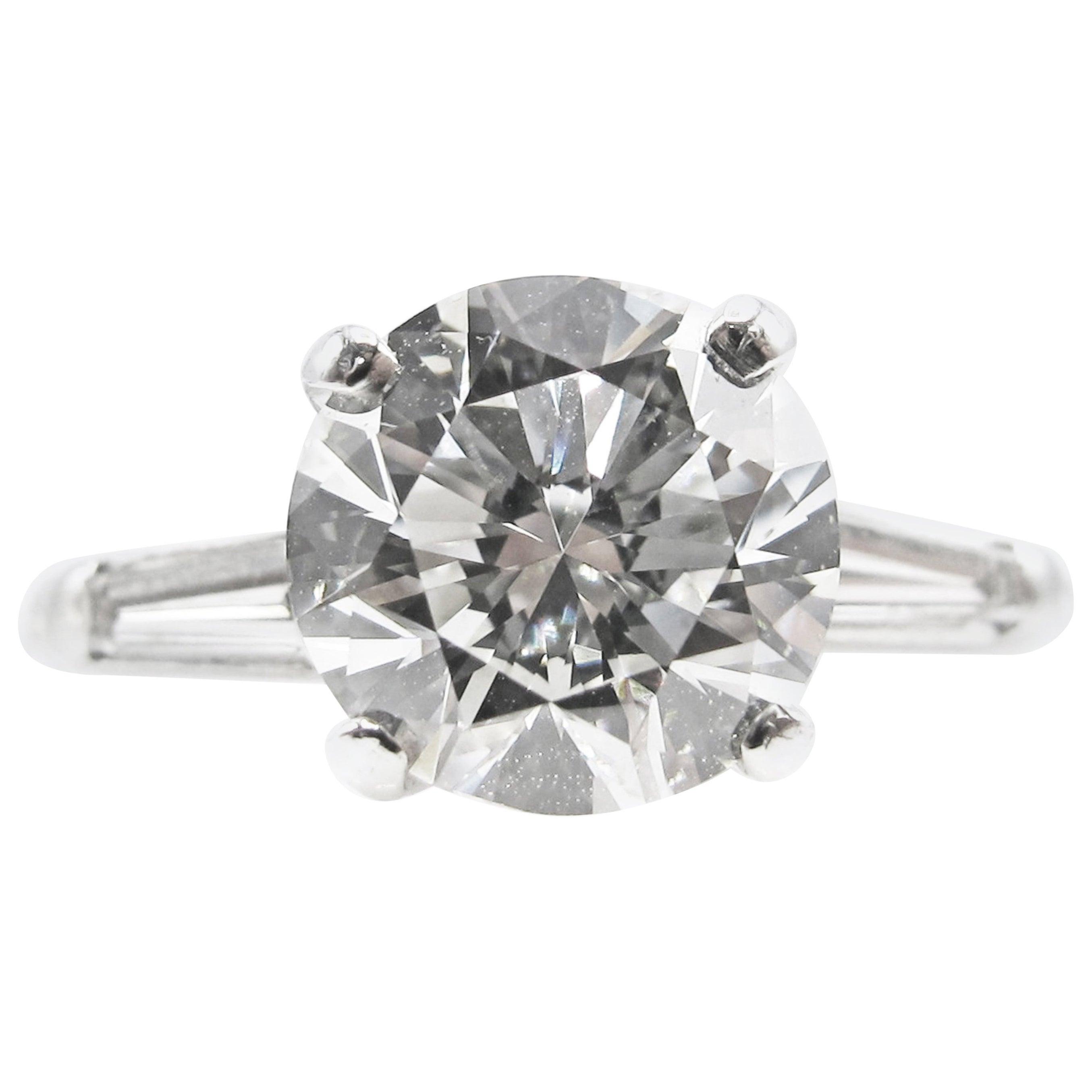 2 Carat Round Brilliant GIA Certified Diamond Platinum Engagement Ring