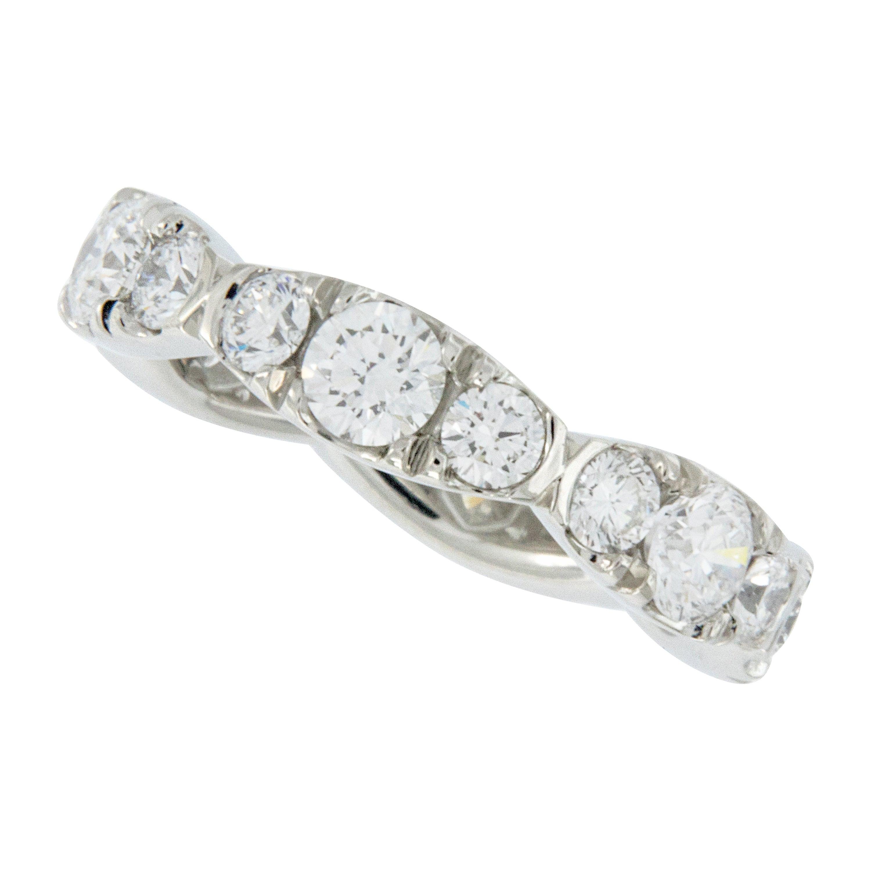 William Rosenberg Platinum Diamond Eternity Ring