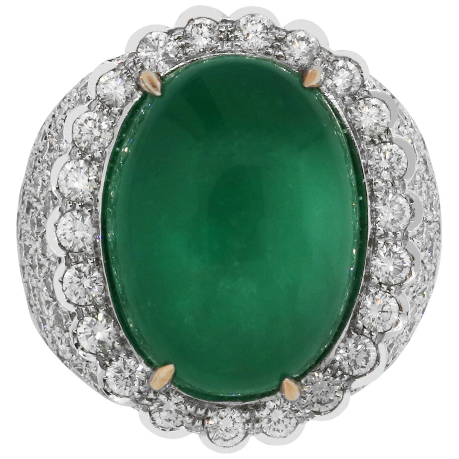 15 Carat Emerald Cocktail Ring