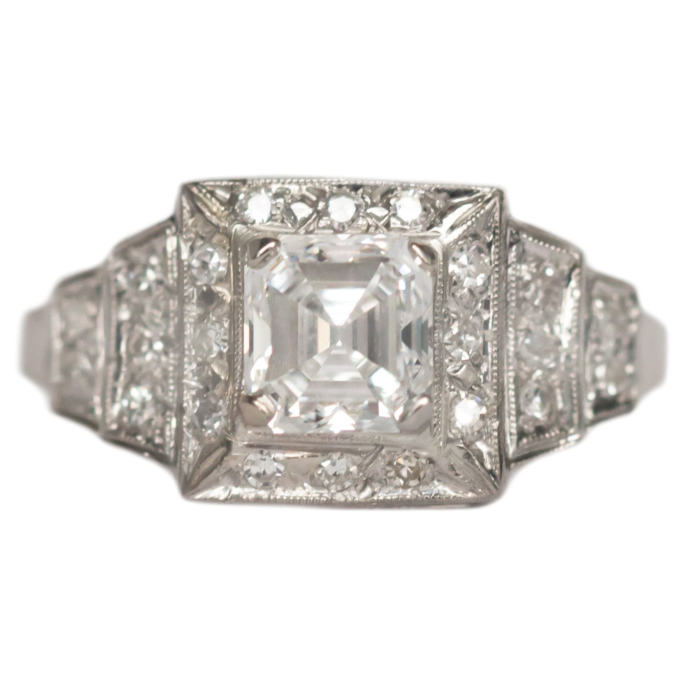 GIA Certified 1.26 Carat Diamond Platinum Engagement Ring