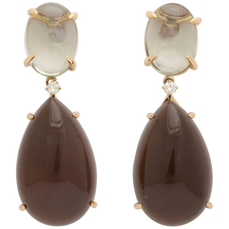 Faraone Mennella Amethyst Gold Drop Earrings