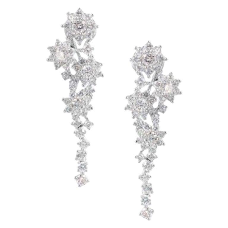 Magnificent Diamond Fine Jewellery White Gold 18 Karat Drop Earrings