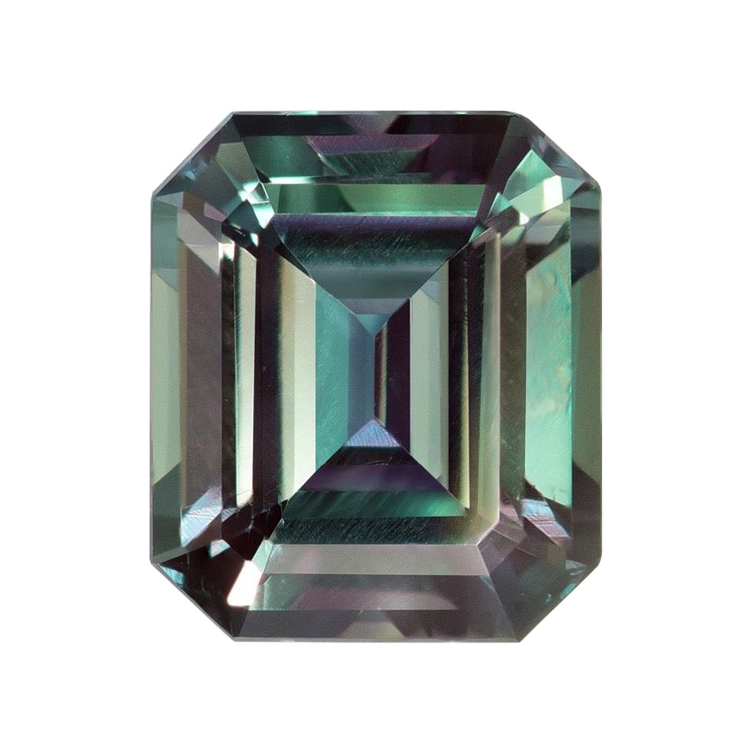 Alexandrite Ring Gem 2.07 Carat Emerald Cut Brazil Loose Gemstone