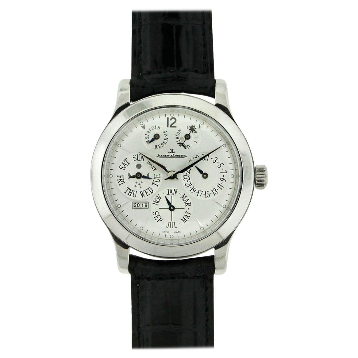 Jaeger LeCoultre Master Control Master Eight Days Perpetual Platinum Watch