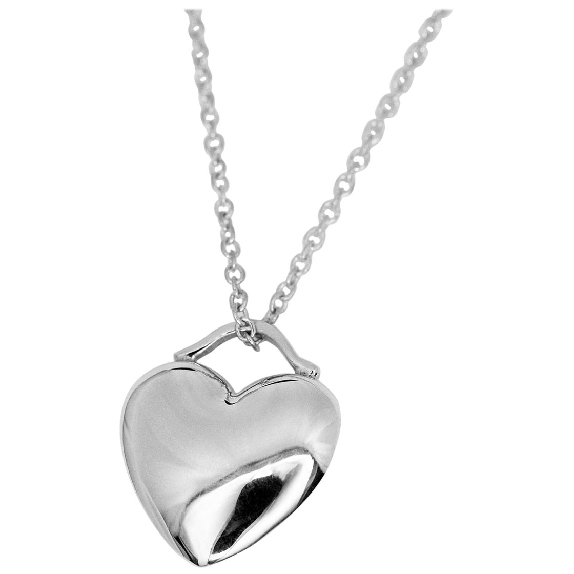 Tiffany & Co. Sterling 925 Silver Heart Pendant Necklace