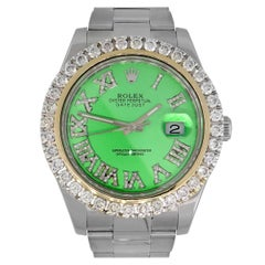 Rolex 116334 Datejust II Green Diamond Dial Watch