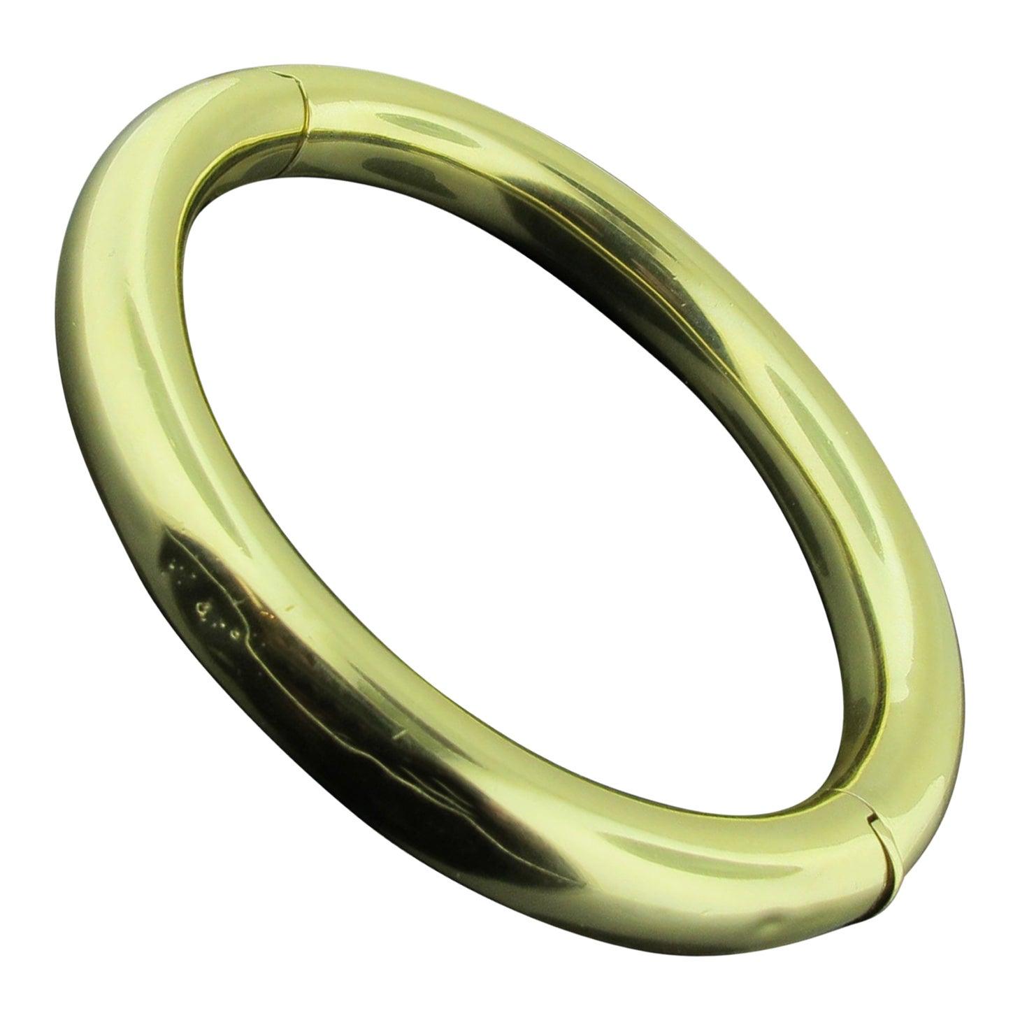 18 Karat Yellow Gold 'Hinged' Bangle Bracelet