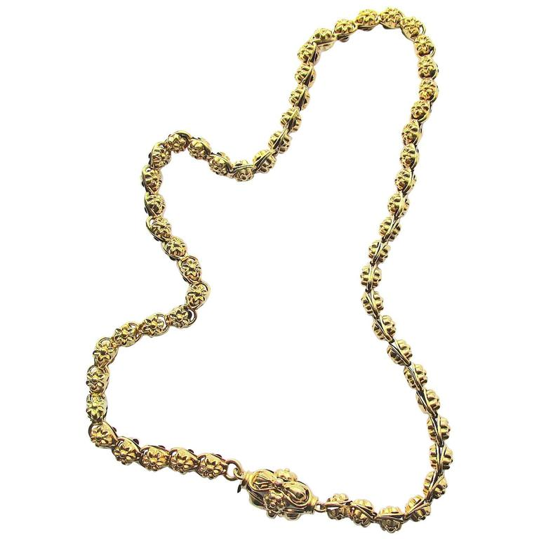1840s Early Victorian Gold Necklace