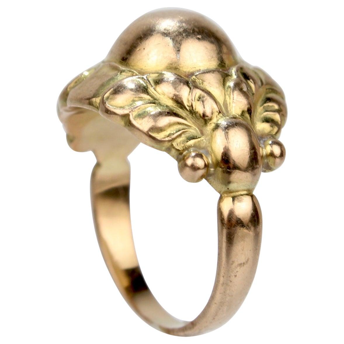 Georg Jensen 18 Karat Gold Ring Model No. 111 B