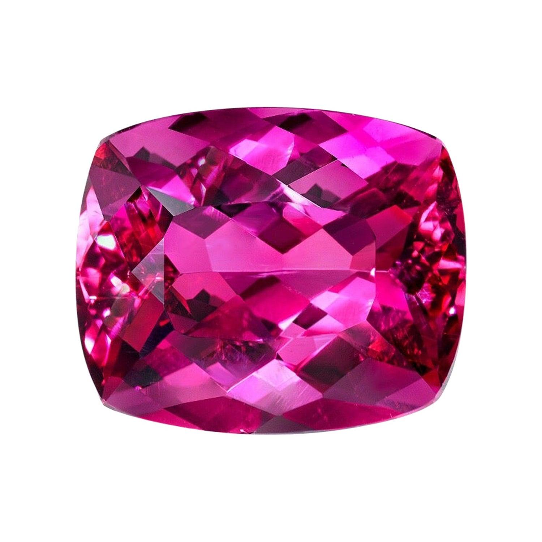 Rubellite Tourmaline Ring Gem 8.86 Carat Loose Gemstone