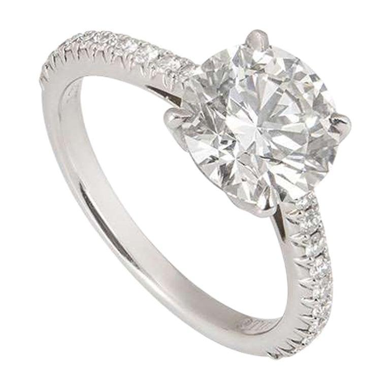 Tiffany & Co. Diamond Novo Engagement Ring 1.72 Carat Triple Excellent