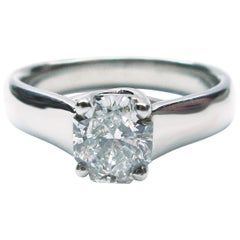 1.03 Carat GIA F VS1 Diamond Solitaire Platinum Engagement Ring