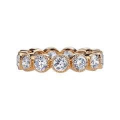 Old European Cut Diamonds Set in an 18 Karat Gold Eternity Band