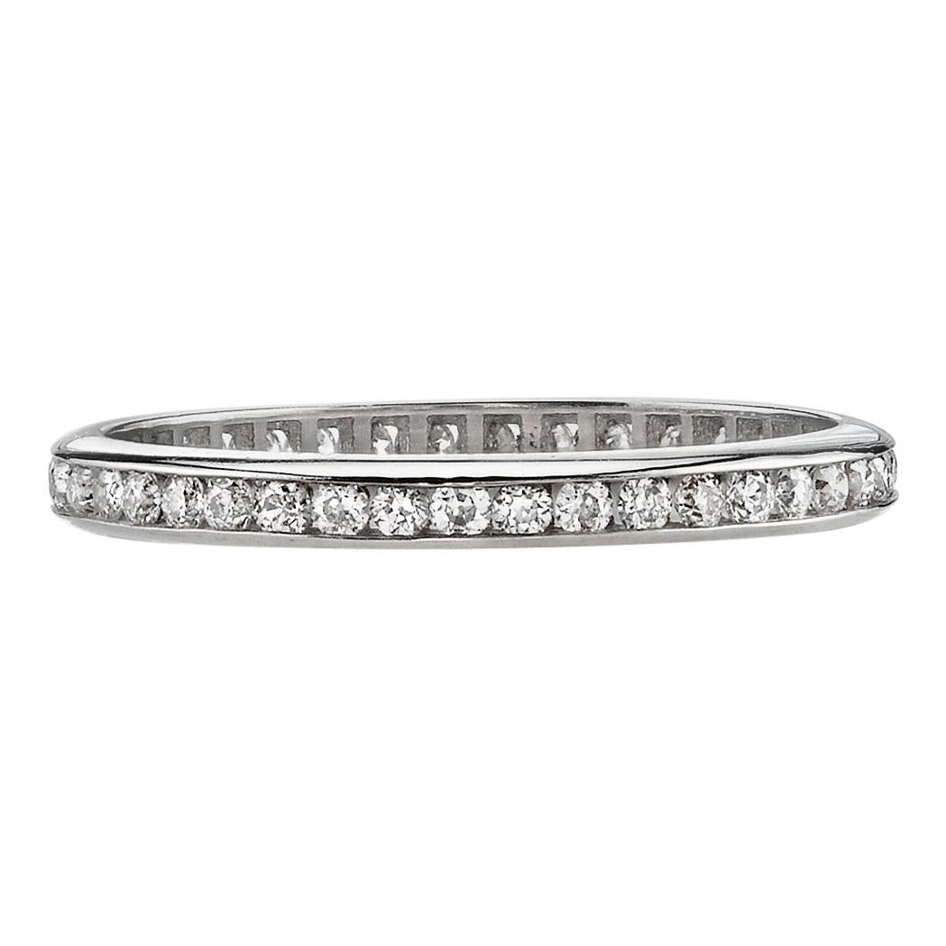 Approx. 0.20 Carat Old European Cut Diamonds Set in a Platinum Eternity Band