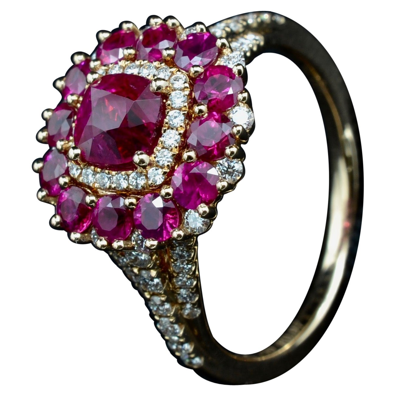 Rubies Loves Diamond Ring Love Rose Gold Love Valentine