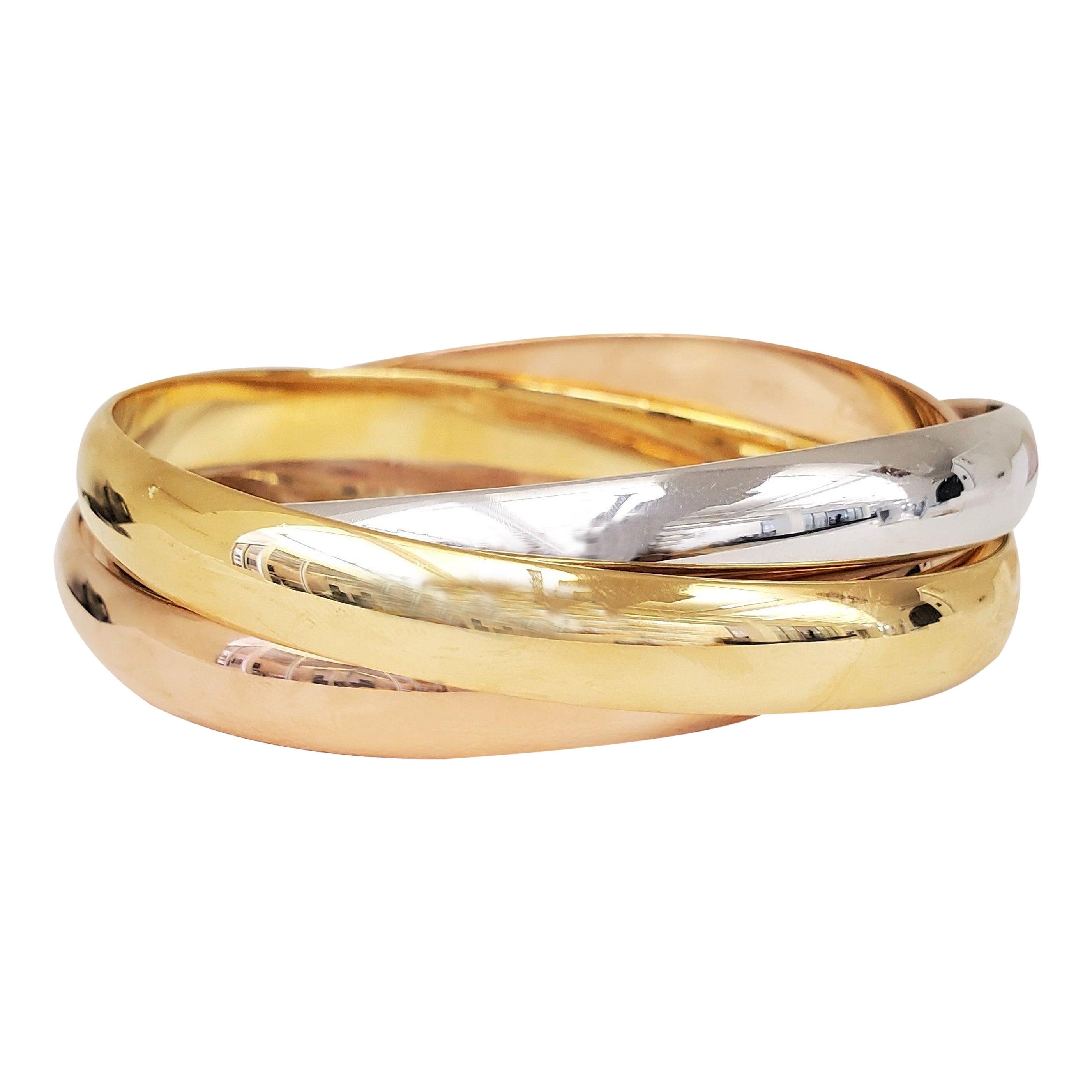 Cartier Tri-Color Gold Trinity Rolling Bracelet