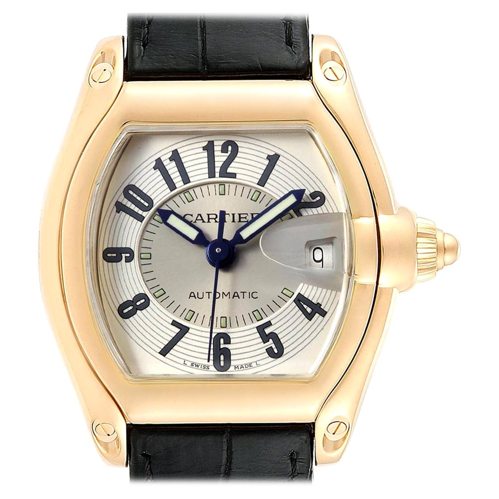Cartier Roadster 18 Karat Yellow Gold Large Men's Watch W62005V2