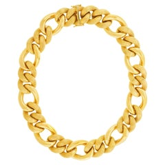 Fabulous Chunky Italian Gold Link Necklace