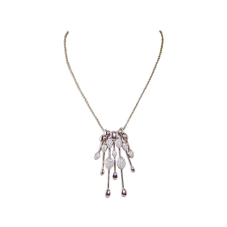 1.80 Carat White Gold Necklace Diamond Pendant