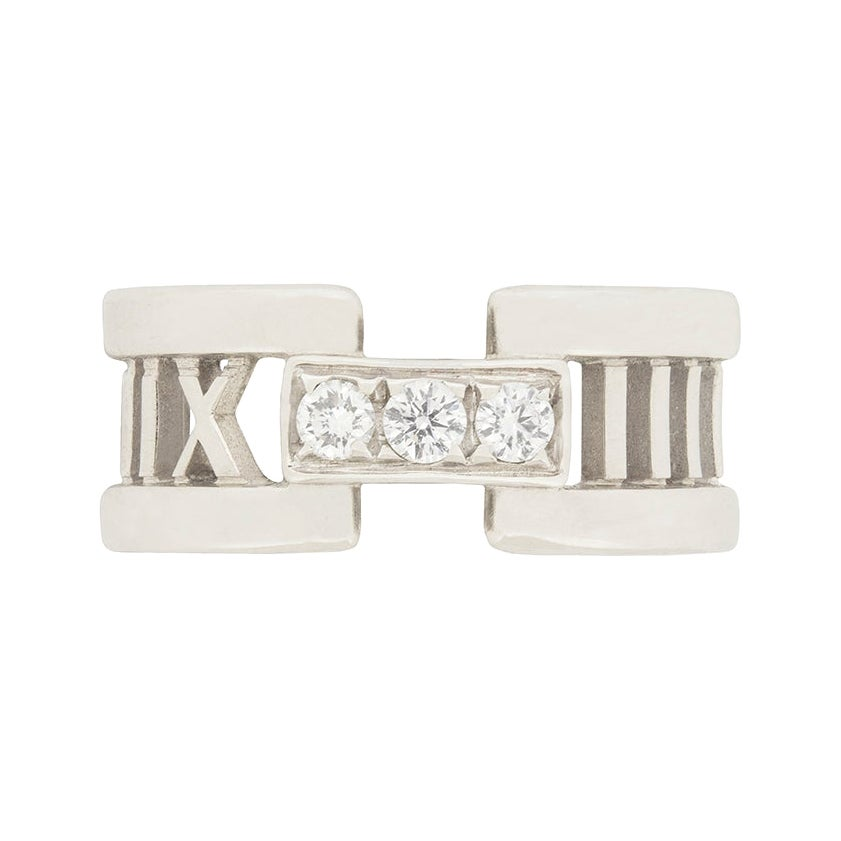 Tiffany & Co. 'Atlas' Open Style Three-Stone Diamond Ring
