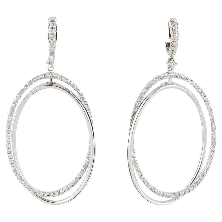 Fabulous Oval Hoop Dangle Earrings