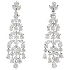 Classic Diamond Gold Chandelier Earrings
