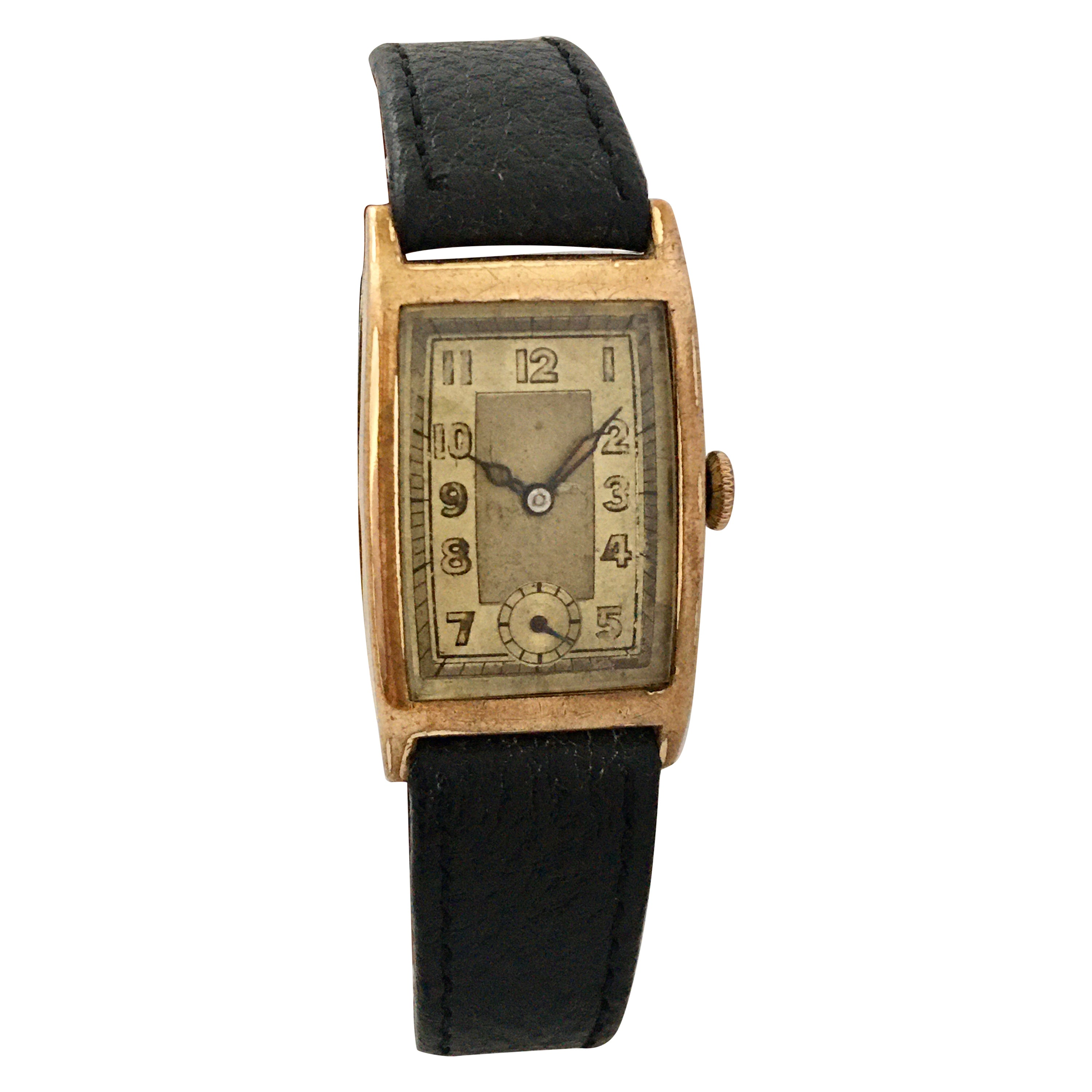 1930s Gold-Plated Manual Winding Vintage Watch