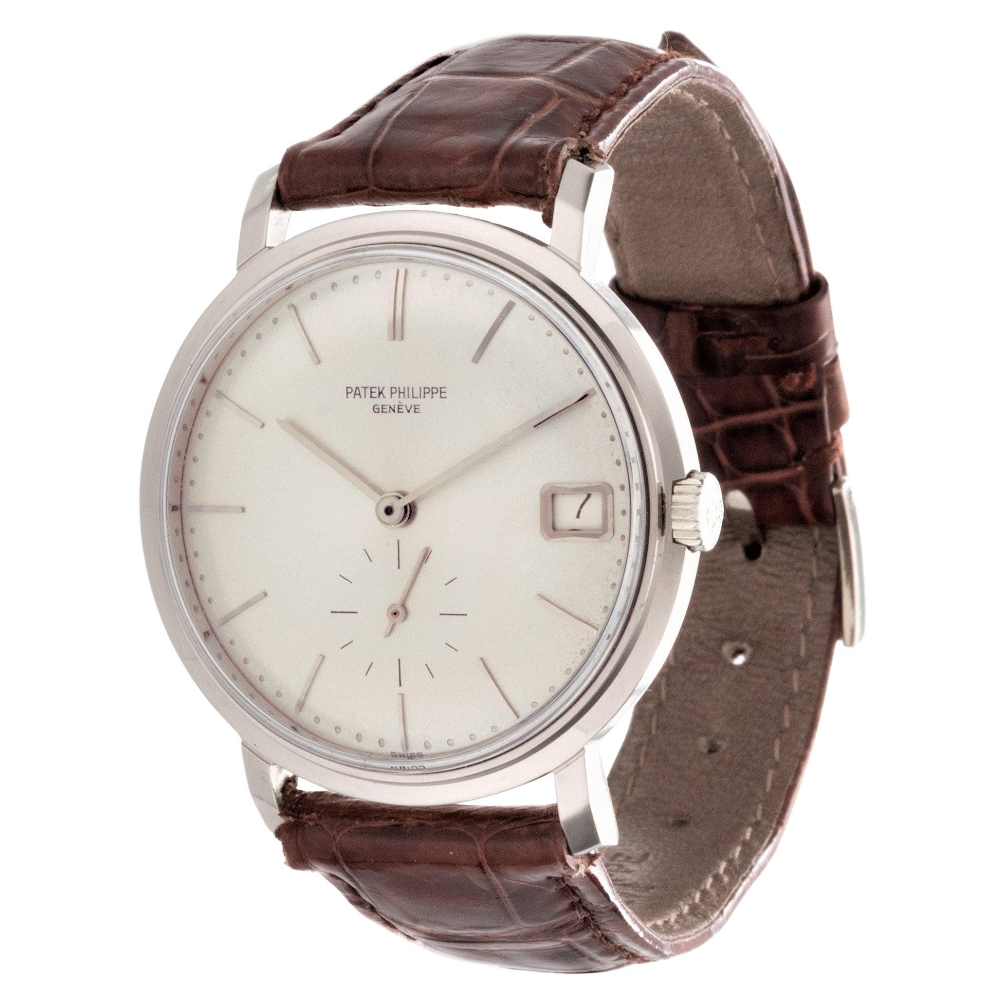 Patek Philippe 3445G Automatic Date Calatrava Watch Circa 1968
