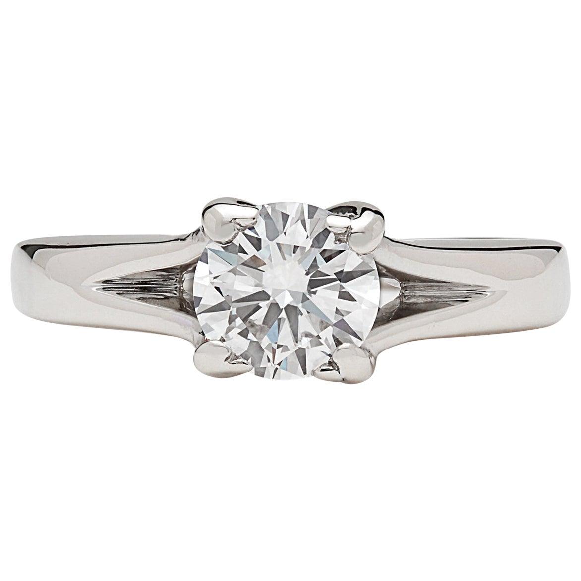 GIA 0.76 Carat D/VS2 Diamond Engagement Ring