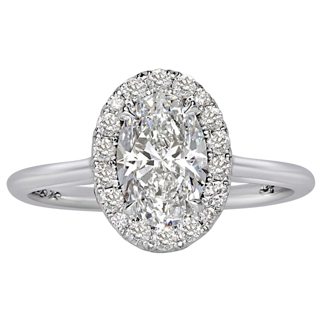 Mark Broumand 1.24 Carat Oval Cut Diamond Engagement Ring