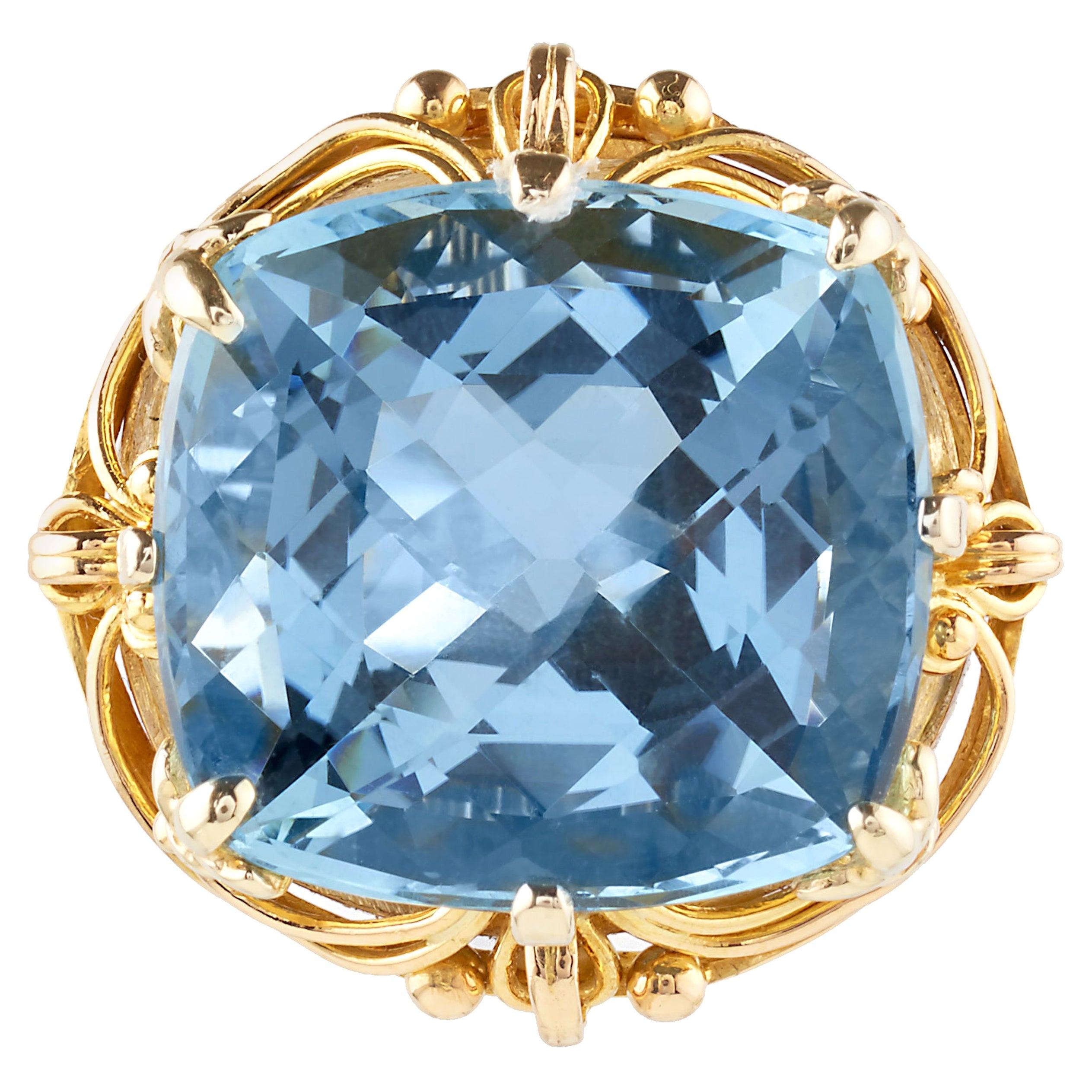 15 Carat Blue Quartz Ring