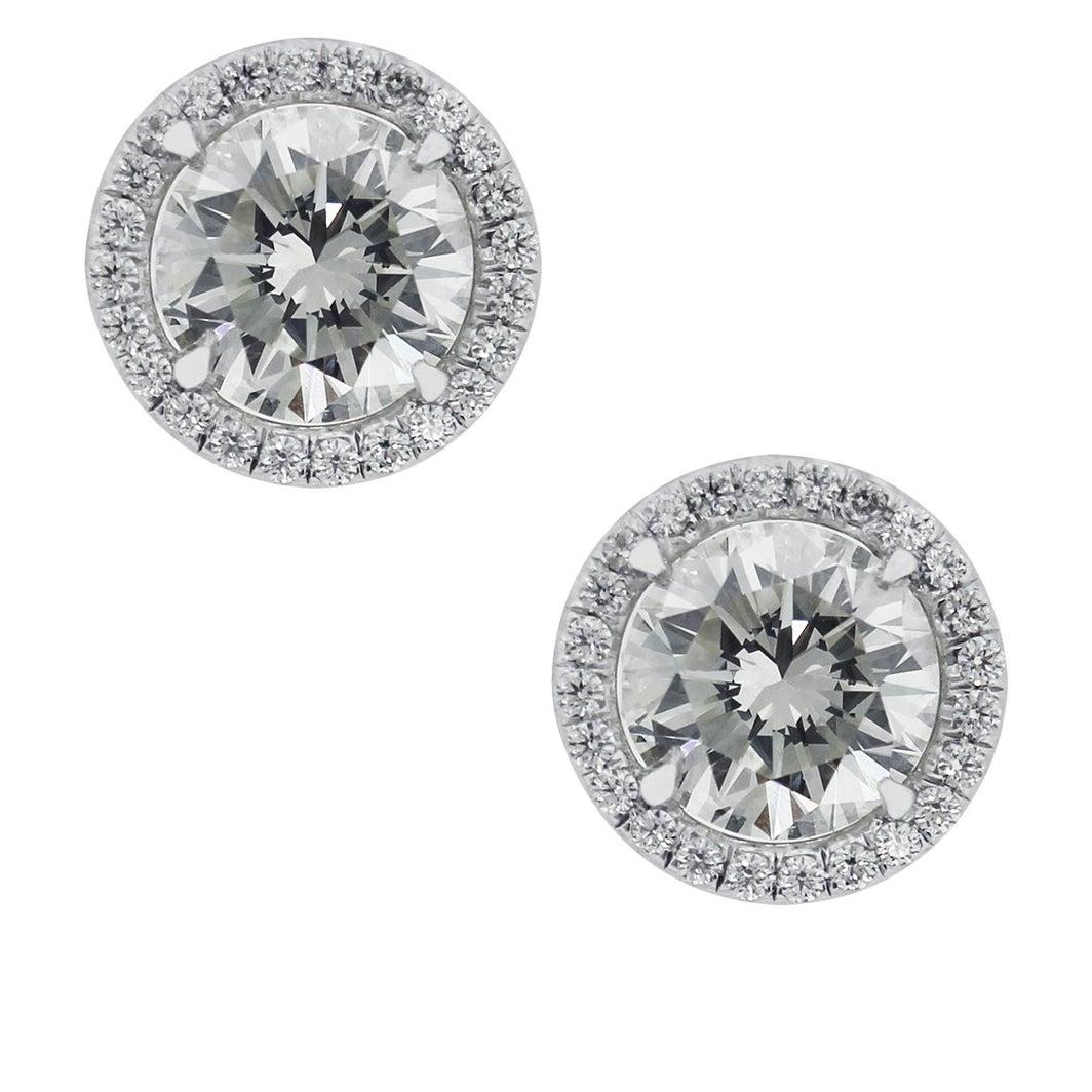 3.01 Carat GIA Certified Diamond Earrings
