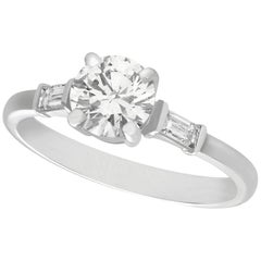1.03 Carat Diamond Platinum Solitaire Engagement Ring