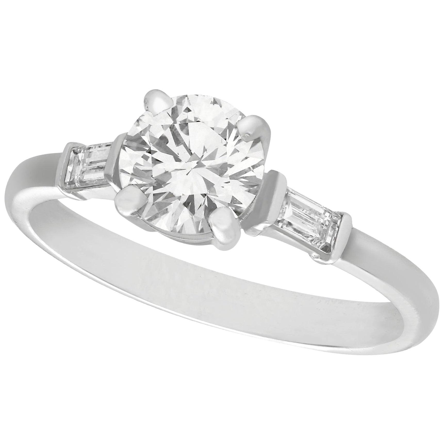 1.03 Carat Diamond Platinum Solitaire Engagement Ring