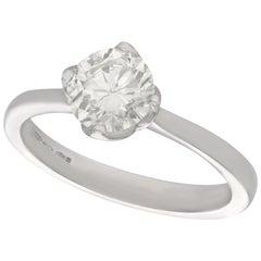 1.01 Carat Diamond and Platinum Solitaire Engagement Ring