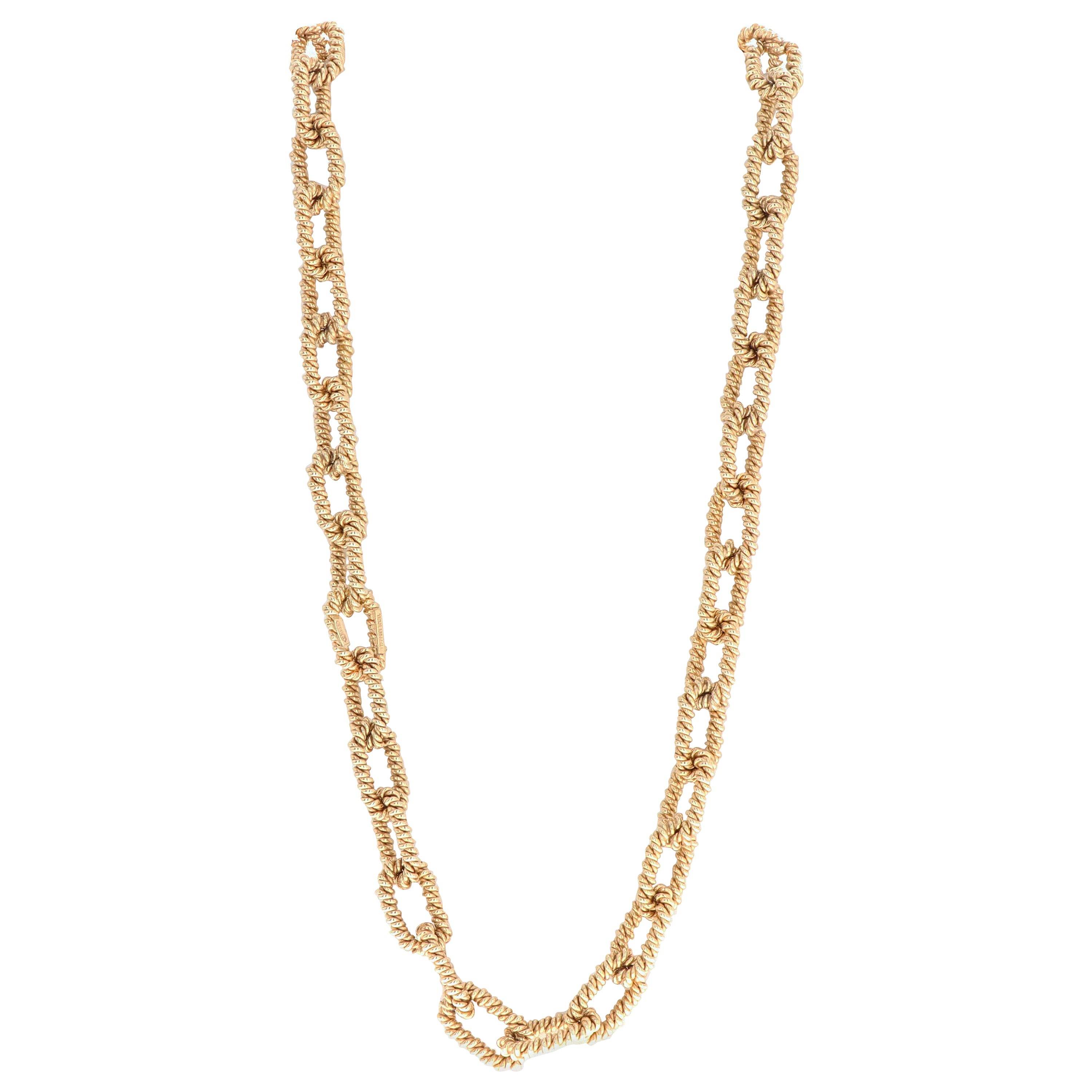 Tiffany & Co. 14 Karat Yellow Gold Link Necklace